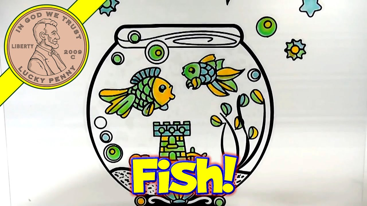Fish tank painting - Gelarti Paint And Peel Off Sticker Scene Creator Fish Tank Set Moose Toys