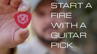 Start a Fire with a Guitar Pick- Black Scout Quick Tips