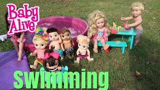baby alive swimming at the pool baby alive Videos