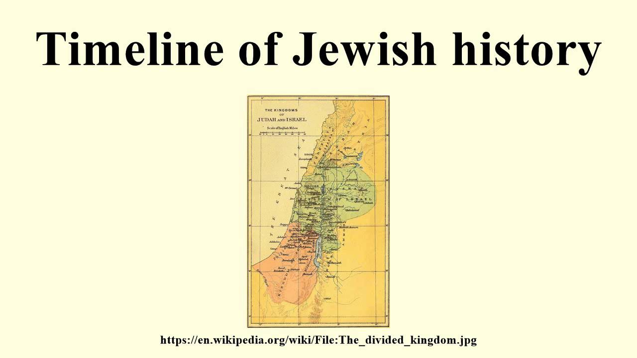 Timeline of Jewish history - YouTube