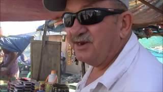 LINAS AMERICAN FIANCEE EATING STREET FOOD BUDBUD IN THE PHILIPPINES