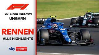 Massencrash & Verrückter Rennausgang | Rennen - Highlights | Preis von Ungarn | Formel 1