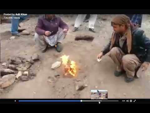 Natural Gas fuel coming out of mountain in Pakistan!!! Investors must watch