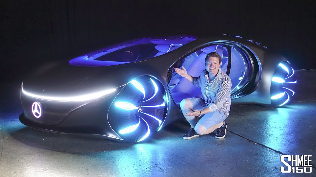 FIRST DRIVE in the Mercedes of the FUTURE! Vision AVTR - YouTube