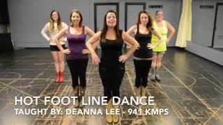 Hot Foot Line Dance Teach & Demo (Boot Boogie Babes)