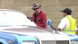 Johnny Hallyday Takes His Blue Rolls Royce Out In Malibu Amid Cancer Battle