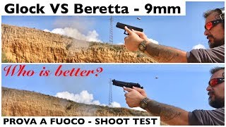 Confronto GLOCK vs BERETTA. Prova al poligono. test rinculo, precisione, mira e strappo. t ...