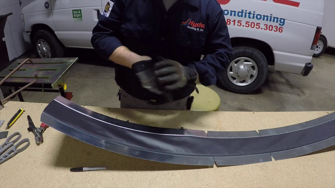 Making a Flexible Duct Connector