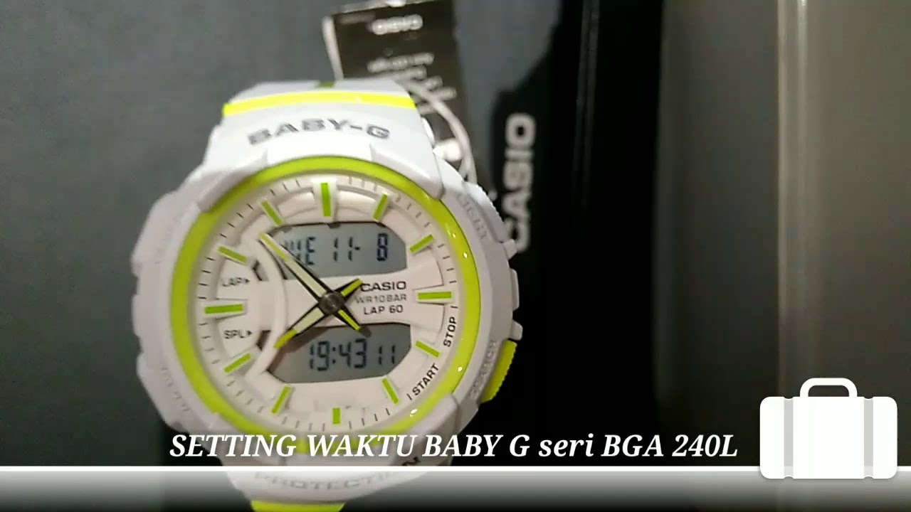 Review Setting Baby G Series Bga 240l 2017 Youtube Casio 1a