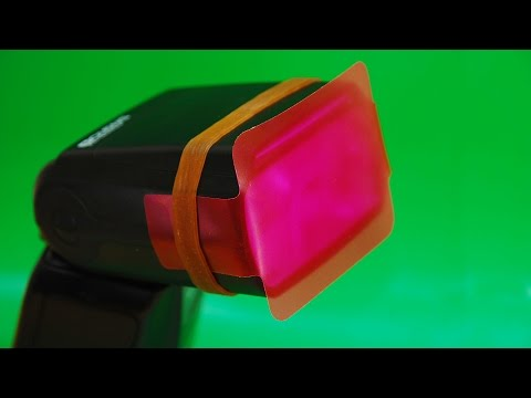 Selens SE-CG20 Photographic Color Gels Filter for the photoflash. Convenient and Cheap