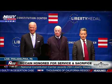 FULL EVENT: John McCain Honored With Liberty Medal (Ceremony with Joe Biden) FNN