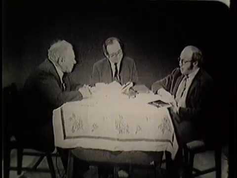 Alter Esselin, Yiddish carpenter/poet, on WTMJ-TV in 1969, on