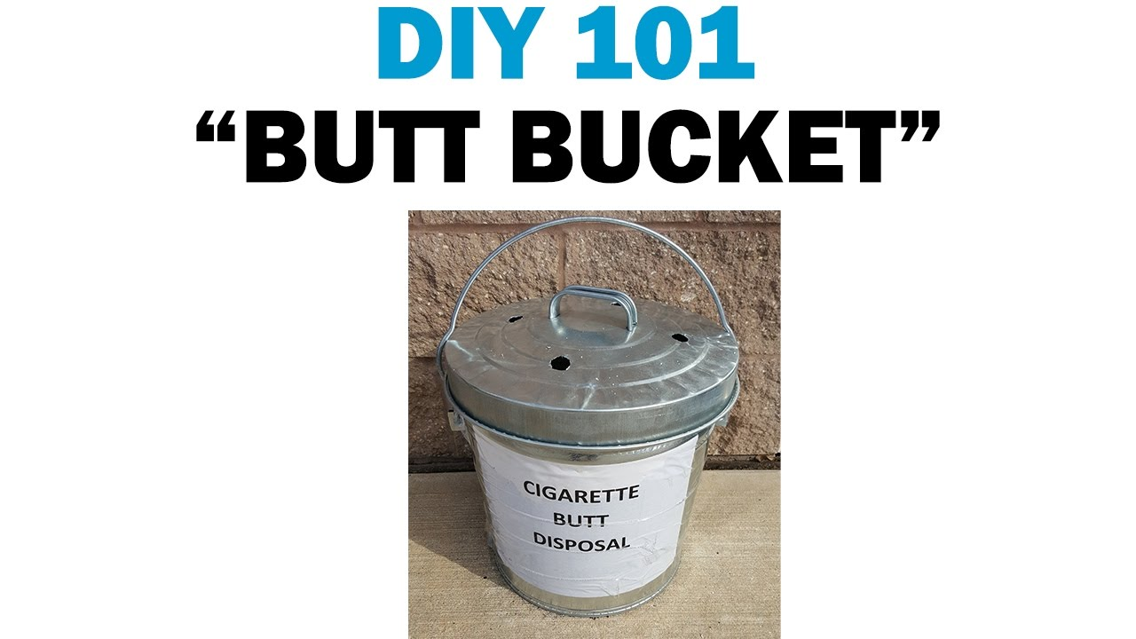 Building Your Own Cigarette Butt Disposal Container | DIY 101 ...