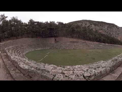 360 video: Stadium of Delphi, Delphi, Greece