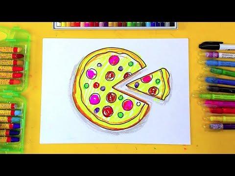 Пицца из КРУГОВ - изучаем ФОРМЫ и рисуем