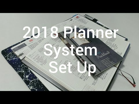 2018 Planner System Set Up (and Stationery That I Use)