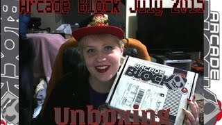 Nerd Block July 2015 Arcade Block Unboxing