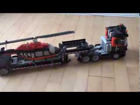 Lego Model Team Helicopter Transport The Trailer Youtube