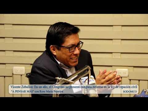 Vicente Zeballos: En un año, el Congreso no presentó ninguna reforma en la ley de repación civil