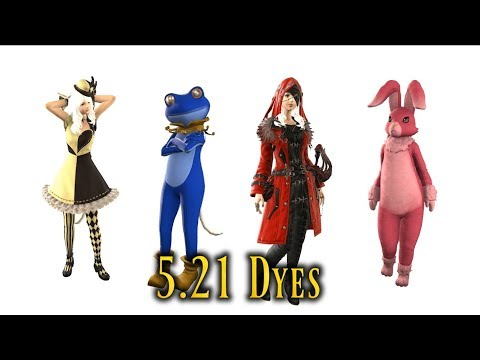 FFXIV: Patch 5.21 New Dyes - What They Look Like & How To Obtain