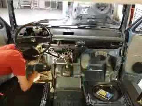 VW T3 smontaggio cruscotto - YouTube