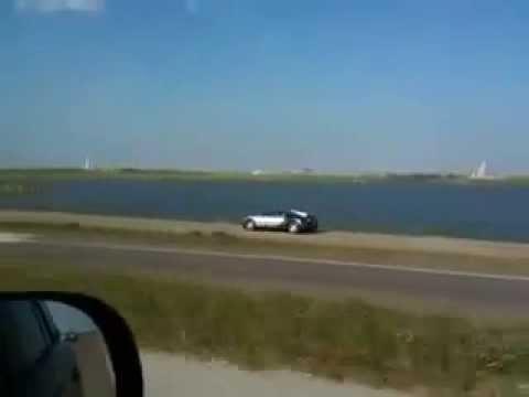 Million Dollar Car Crashes Into Water