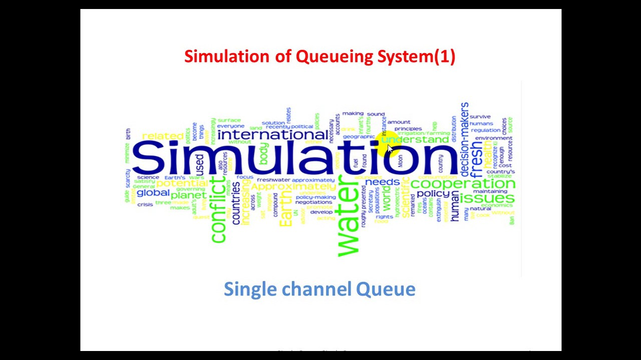single server queue simulation c To view the answer this time when the simulation has run to completion but before selecting end (eg only a certain number of people can queue in a post.