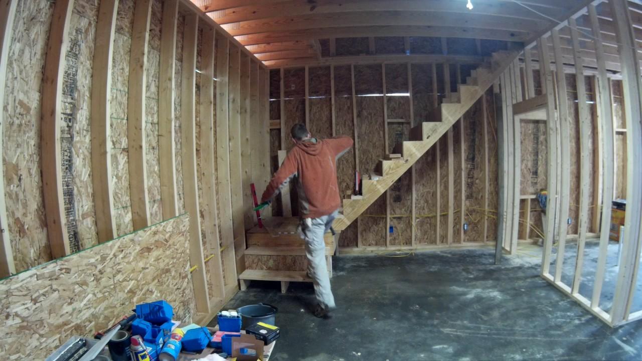 Garage Steps And Railing Youtube