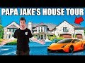 PAPA JAKE'S HOUSE TOUR!! Gaming Setup, Movie Theatre, Pool & More!