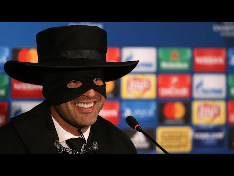 Shakhtar Donetsk manager dresses up as Zorro after Champions