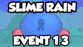 Terraria 1.3 - New Slime Rain Event - Slimes Fall From The Sky! [Terraria 1.3 Events]