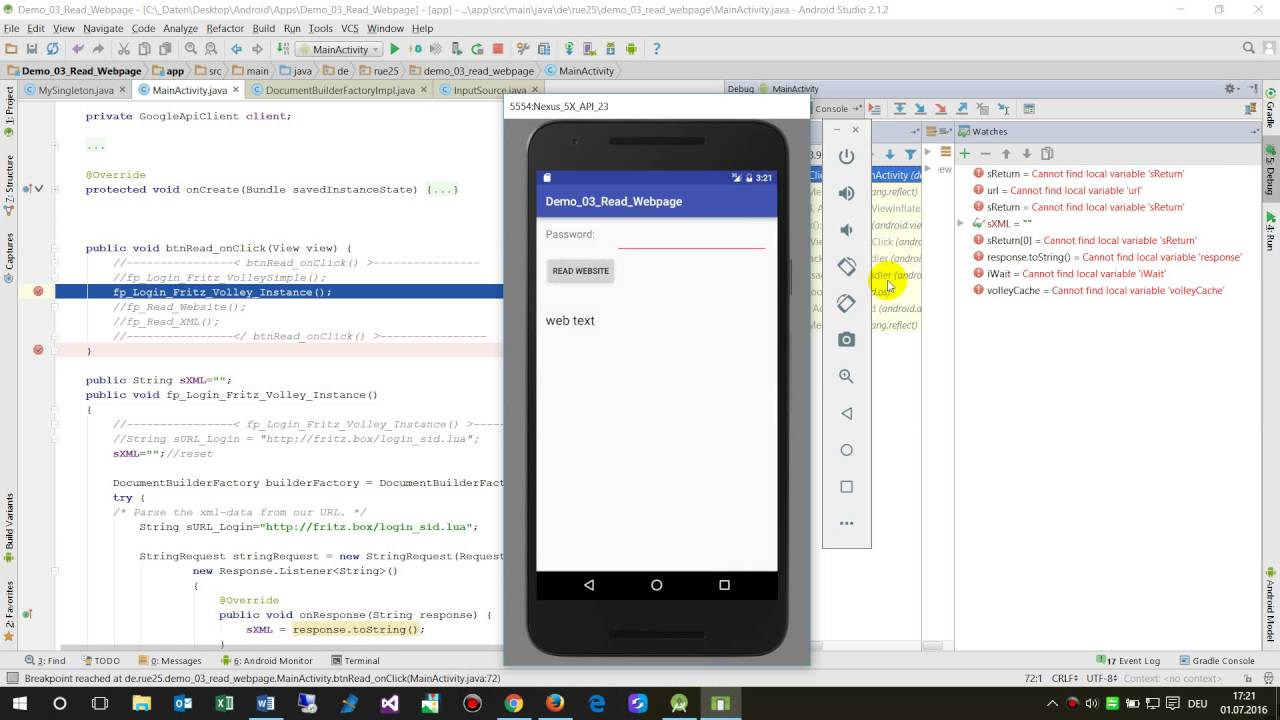 Android volley: waiting for the response return value