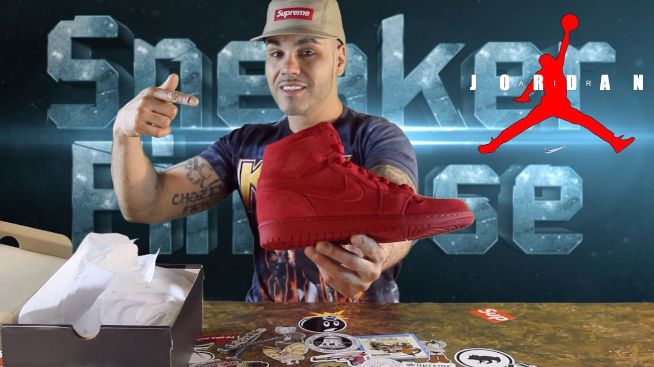 Early Look   Air JORDAN Retro 1 Red Suede - Sneaker Review - YouTube ea9b5a403