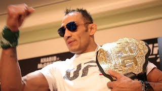 TONY FERGUSON'S FULL UFC 229 MEDIA SCRUM; TALKS RECOVERY AND CONOR MCGREGOR DUCKING HIM
