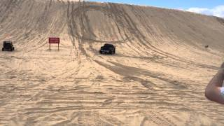 1000HP Lifted Cummins on Paddle Tires at Silver Lake Sand Dunes Climbing Test Hill