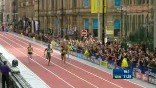 Allyson Felix catches Fergusson for win -  from Universal Sports