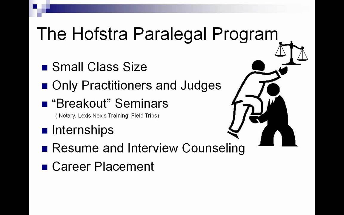 Hofstra University Paralegal Certification Webinar Youtube