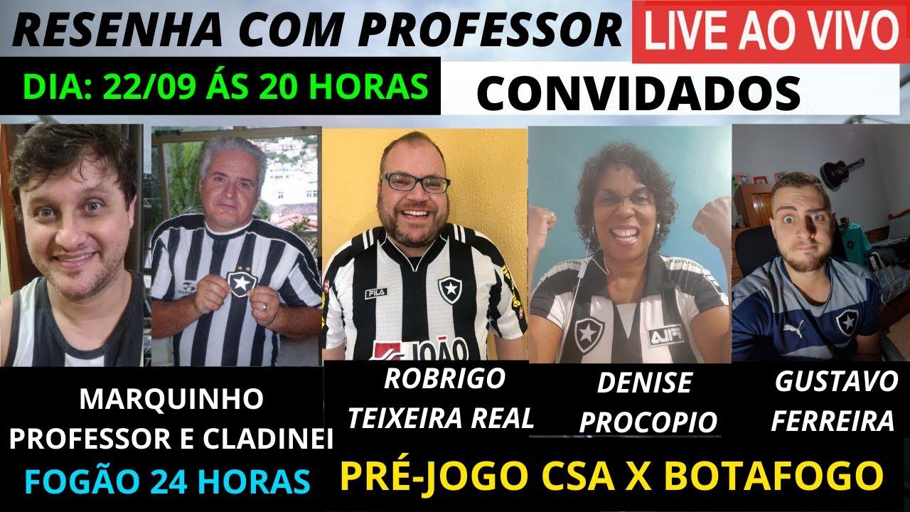 RESENHA COM PROFESSOR E CONVIDADOS, PRÉ JOGO CSA X FOGÃO