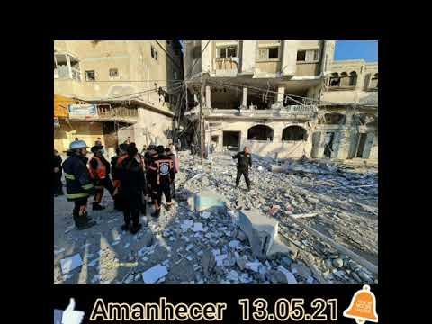 GAZA Em Israel Final De Noite Com Muitas Bombas