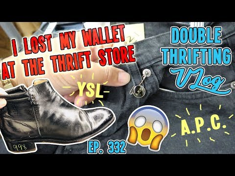 I LOST MY WALLET AT THE THRIFT STORE  DOUBLE THRIFTING VLOG EP 332