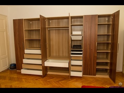ikea pax mit bergsbo t r und integral t rd mpfer doovi. Black Bedroom Furniture Sets. Home Design Ideas