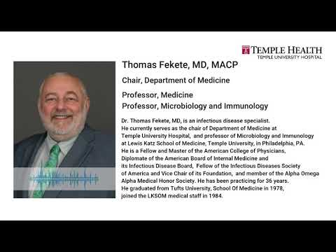 What You Need To Know About Coronavirus?  Dr. Thomas Fekete Temple Health University - English Audio