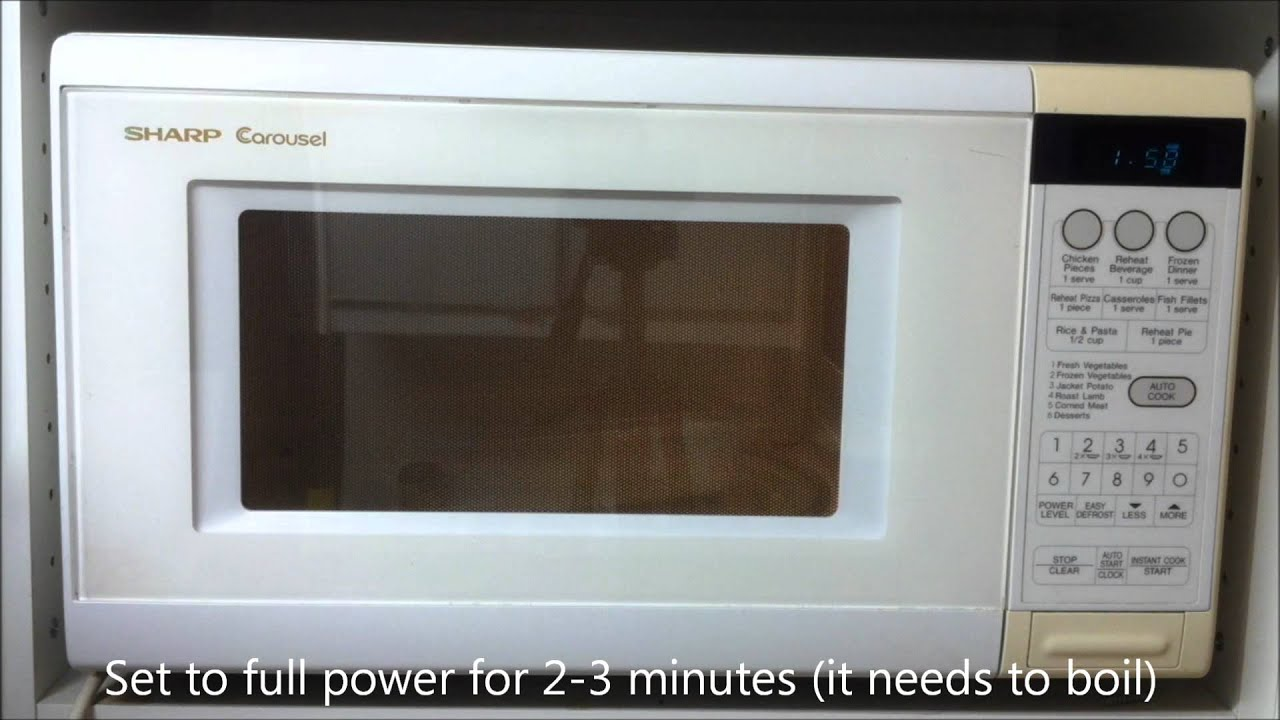 How to clean the microwave at home 79