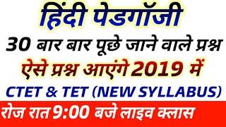 Hindi pedagogy 30 most important question Hindi mai CTET and TET 2019 /samvida Bharti