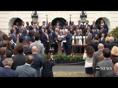 President Donald Trump hosts Super Bowl-winning New England Patriots at White House 4/19/2017