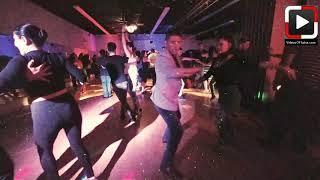 Carmen y Pedro social dancing at Culture Beat Salsa Social Houston