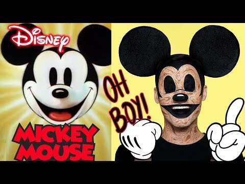 DISNEY | WOODEN MICKEY MOUSE - HALLOWEEN MAKEUP TUTORIAL thumbnail