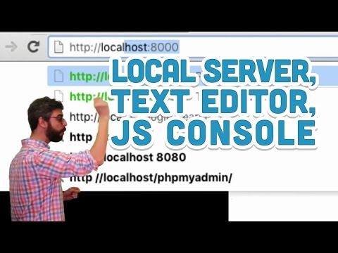 9.12: Local Server, Text Editor, JavaScript Console - p5.js Tutorial