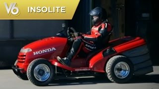 Un moteur de moto Honda dans une tondeuse- Les insolites de V6