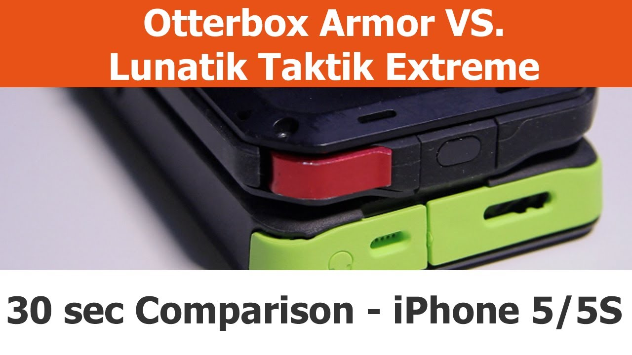 check out 2f024 ec91a Top 3 Differences - Otterbox Armor vs. Lunatik Taktik Extreme in 30 seconds  - iPhone Cases